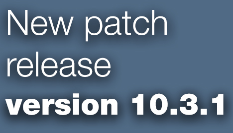 Open Inventor Toolkit patch release 10.3.1 is available