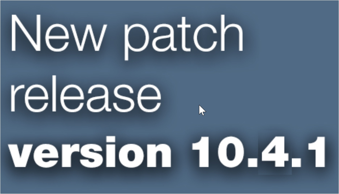 Open Inventor patch release 10.4.1 is available