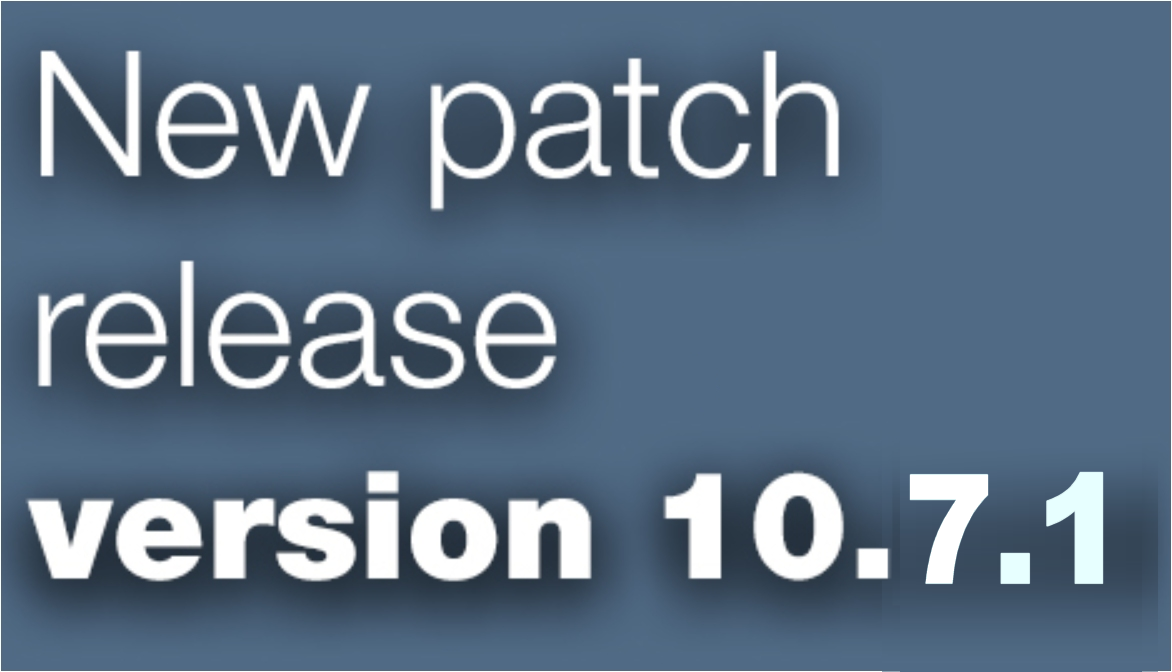 Open Inventor patch release 10.7.1 is available