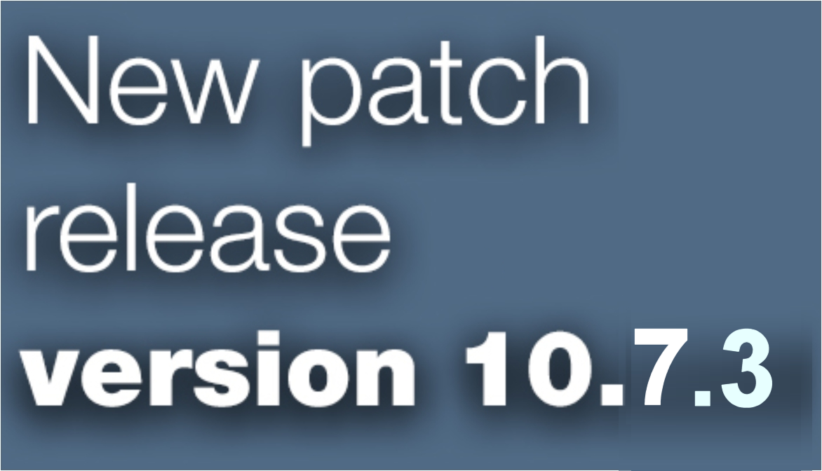 Open Inventor patch release 10.7.3 is available