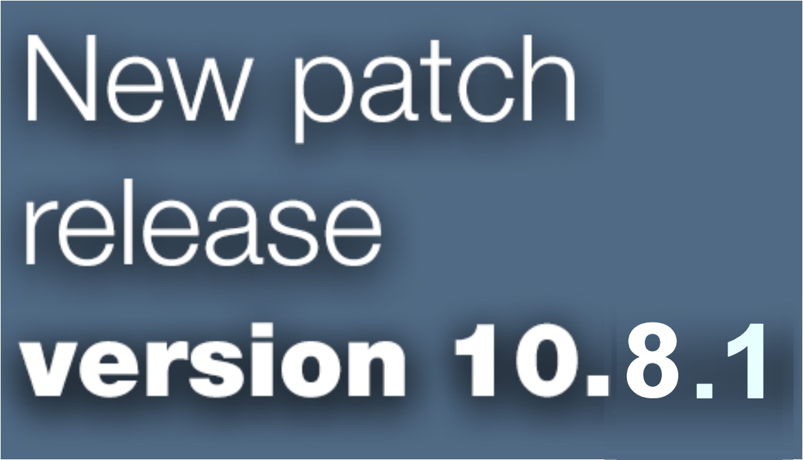 Open Inventor patch release 10.8.1 is available