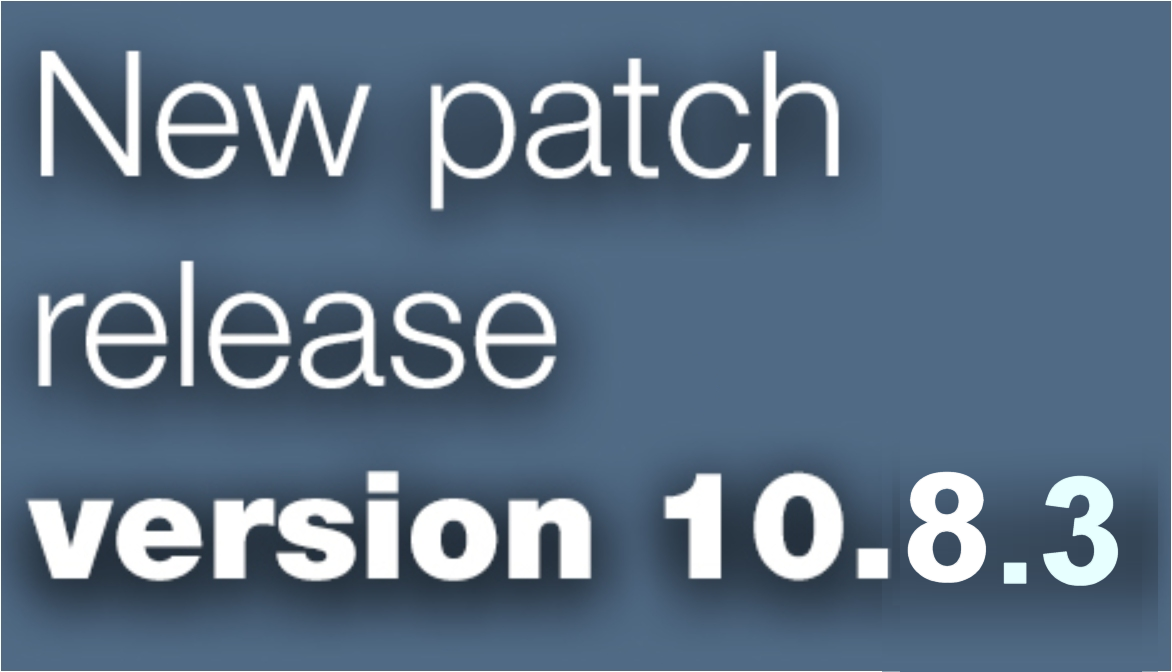 Open Inventor patch release 10.8.3 is available