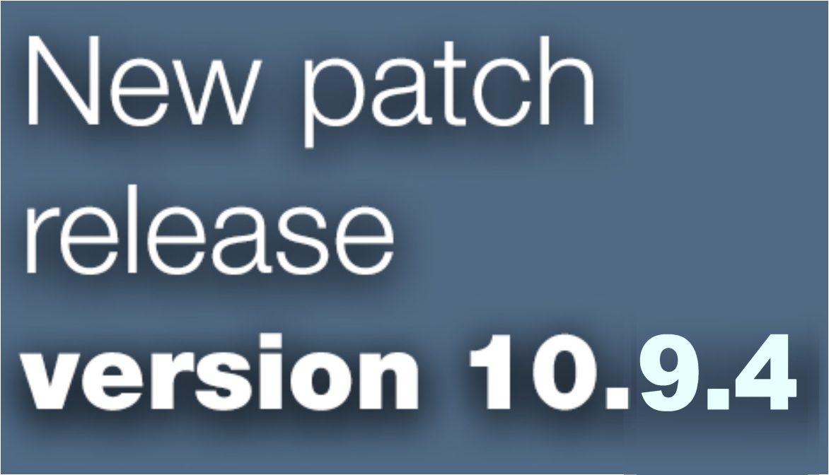 Open Inventor patch release 10.9.4 is available