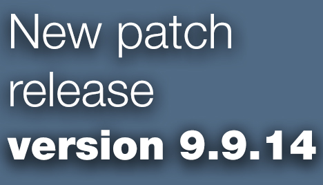 Open Inventor Toolkit patch release 9.9.14 is available