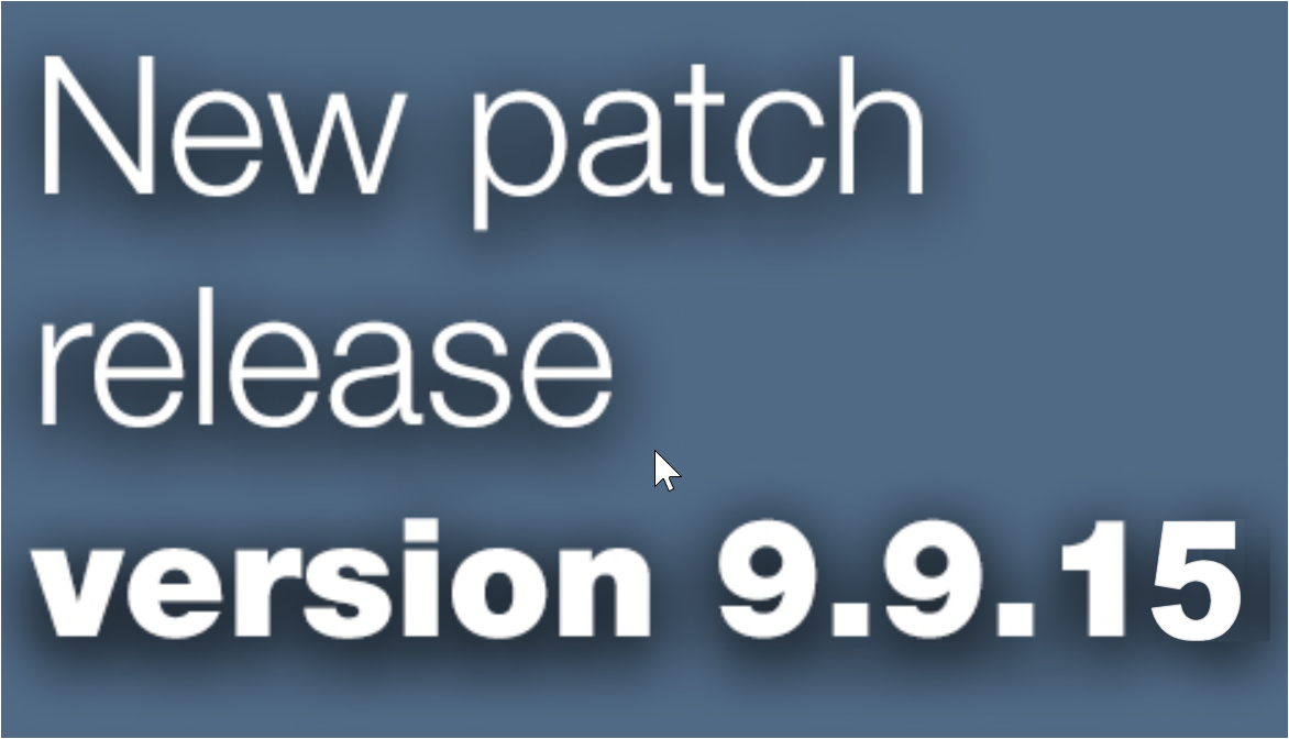 Open Inventor 9.9.15 patch release is available