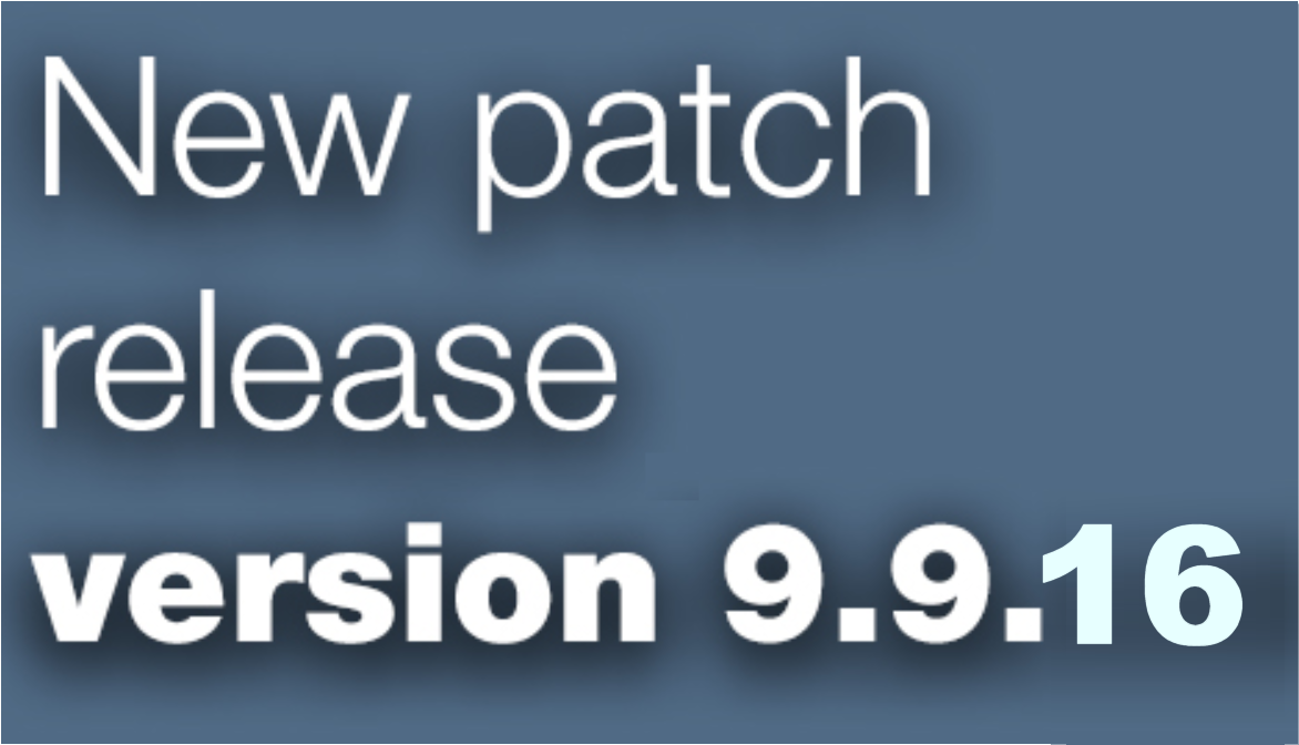 Open Inventor 9.9.16 patch release is available