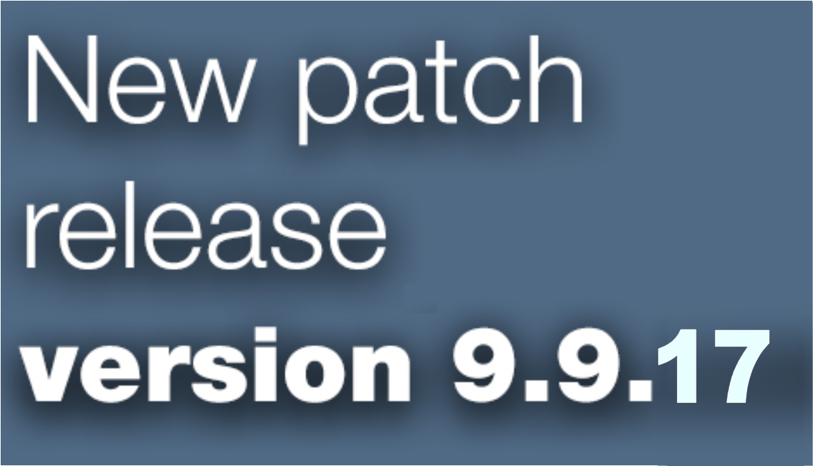 Open Inventor 9.9.17 patch release is available