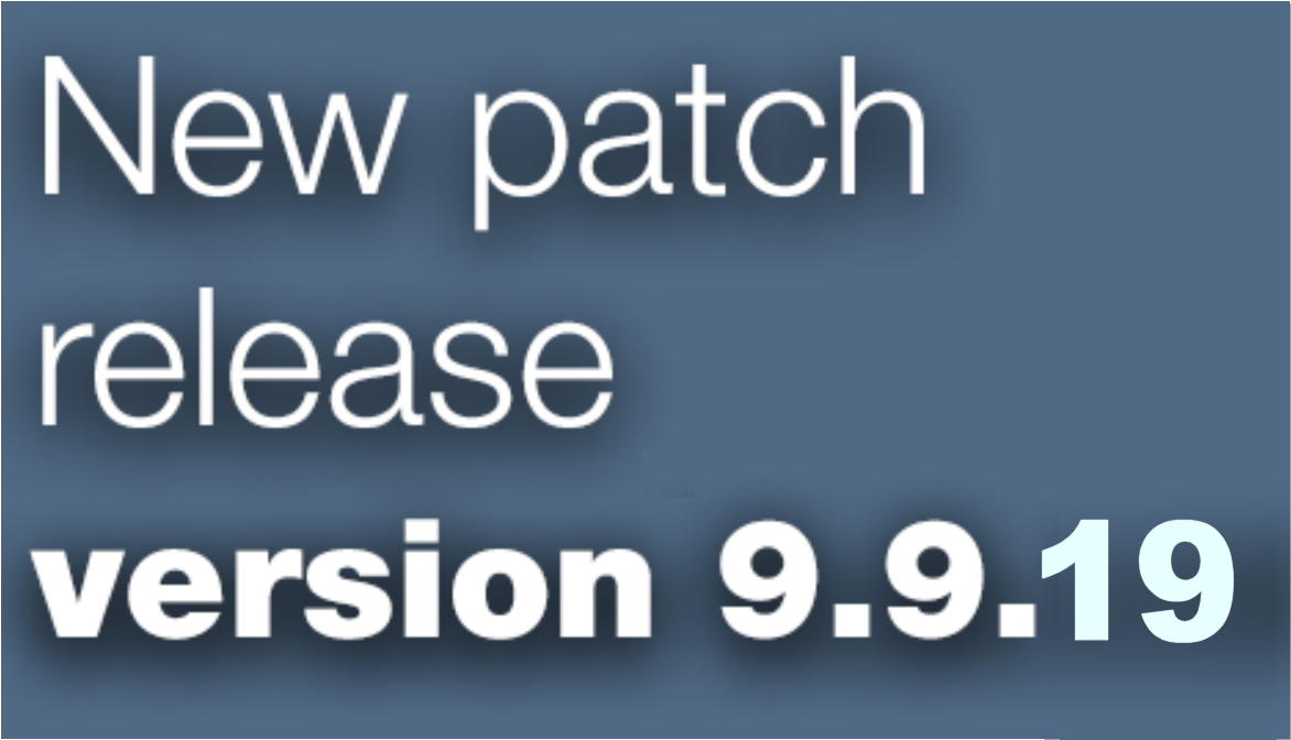 Open Inventor patch release 9.9.19 is available