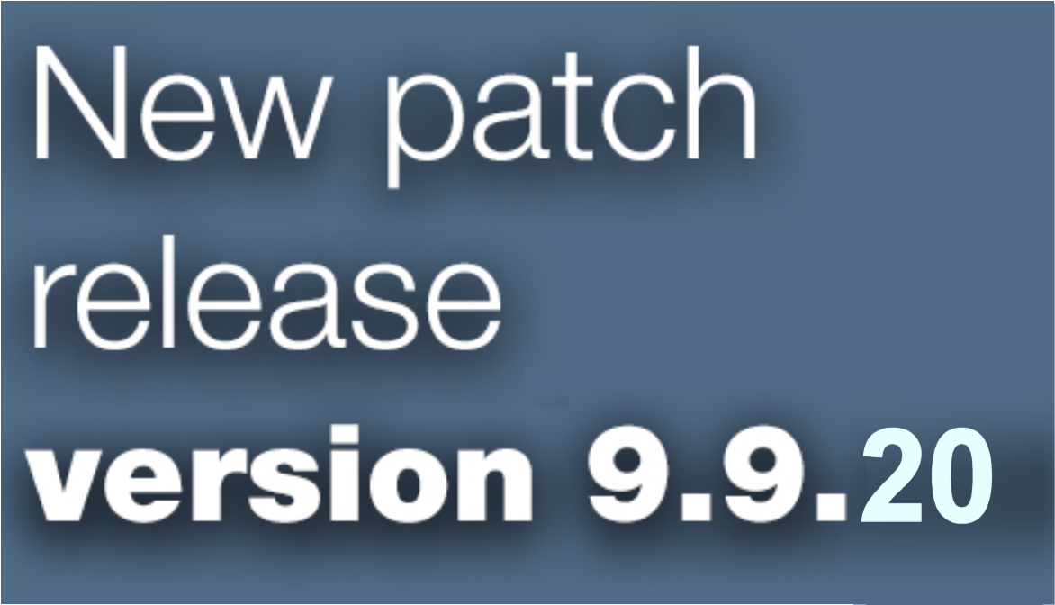 Open Inventor patch release 9.9.20 is available
