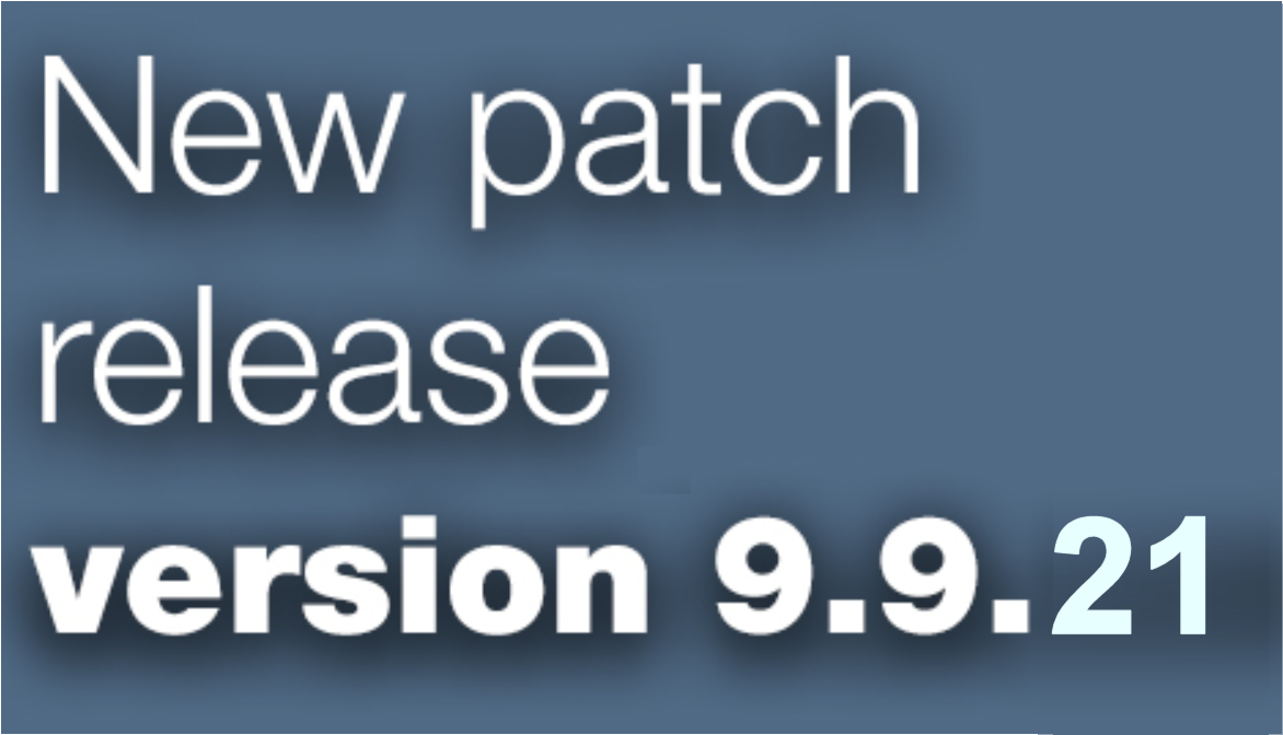 Open Inventor patch release 9.9.21 is available