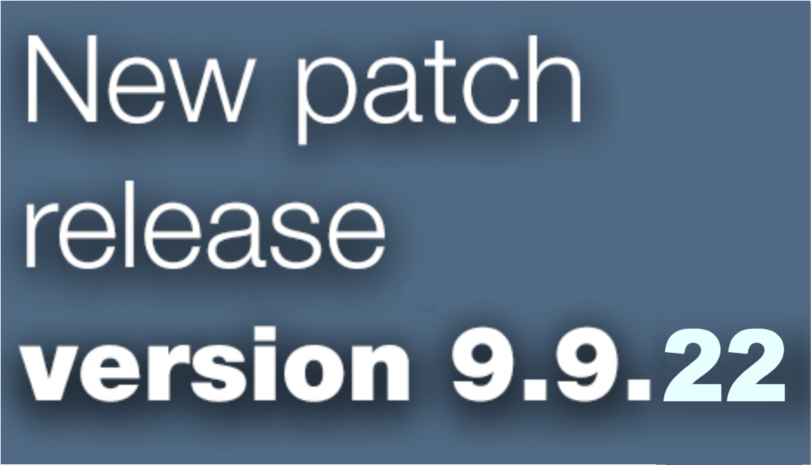 Open Inventor patch release 9.9.22 is available